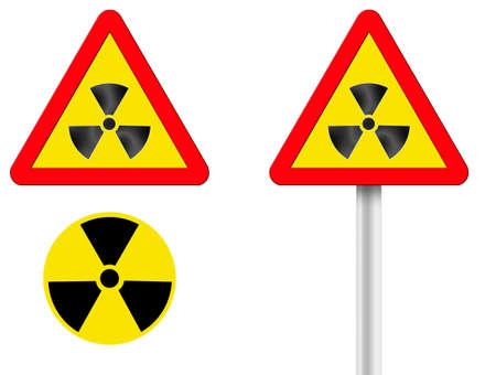 radioisotope: token of raised radiation. A computer illustration