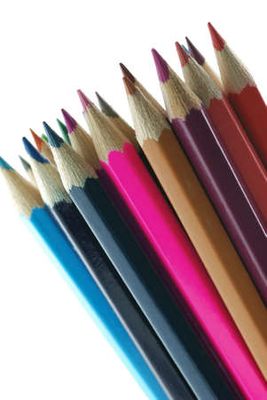 background color pencils. It is isolated on a white background photo