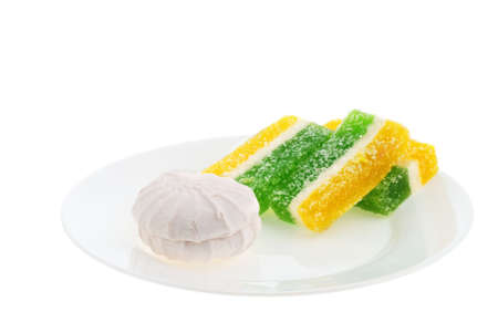 repast: Sweets. East dessert it is isolated on a white background
