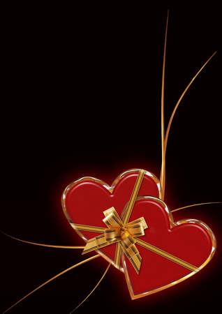 encasement: valentine card