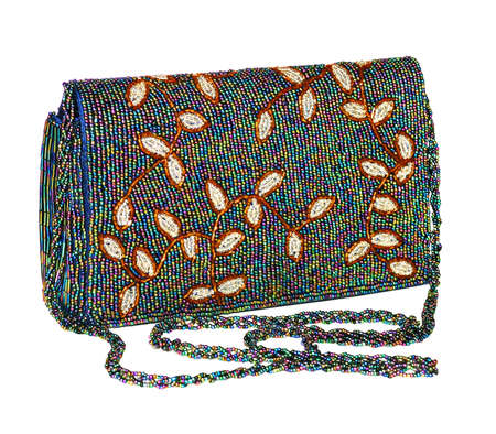 magnificence: Ladies handbag. Instructed by multi-coloured glass  Stock Photo