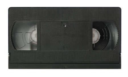 videocassette: Cinta de v�deo. El obsoleto cassete es aislado sobre un fondo blanco