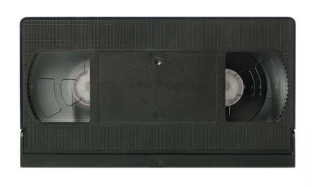 videocassette: Videocassette. The obsolete cassete it is isolated on a white background Stock Photo
