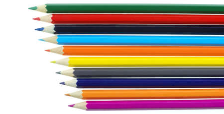 Color pencils. It is isolated on a white background photo