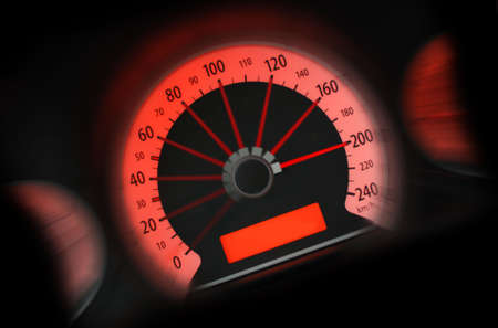 Concept speed. The panel of the car of 200 km/h going on the speed Stock Photo - 2862339