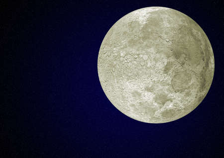remote view: The detailed moon in the night star sky