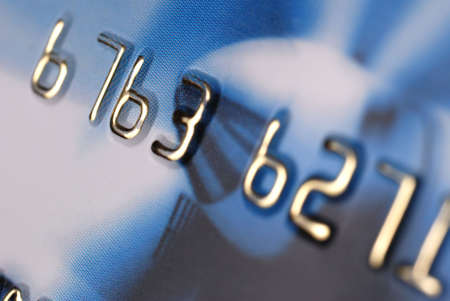 Credit card. A photo close up with the selected focus photo