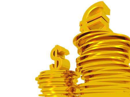 remuneraci�n: Euros y d�lares. Concepto - la superioridad de la moneda europea por encima de Am�rica