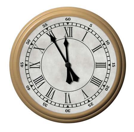 elaboration: Ancient watch. Roman figure on a dial, high detailed elaboration
