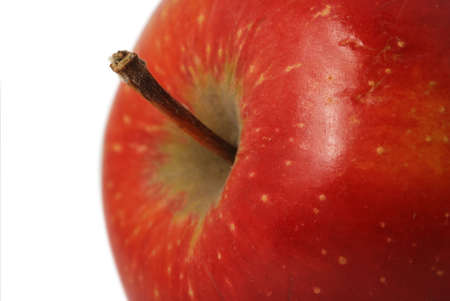 Apple. It is isolated on a white background. A ripe, juicy fruit.  photo
