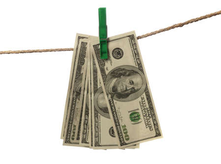 misdemeanor: Money-laundering. Concept about illegally earned money