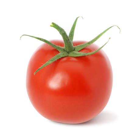 トマト。それは、白い背景に分離されます。熟した野菜。