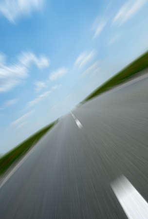 Asphalt road. A transport highway with the blue sky. A transport highway with the blue sky Stock Photo - 3379606