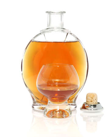 abstract liquor: Cognac. A spirit made of grapes, with long endurance