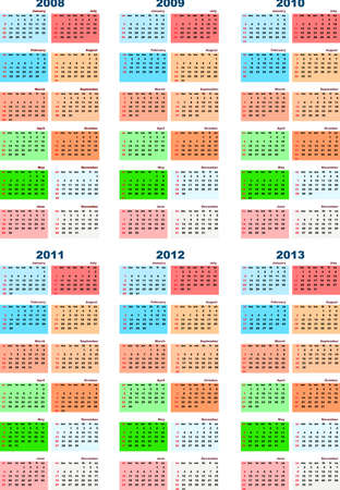 Calendar 2008-2013 photo