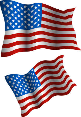 Flag of the USA. The vector image of a national symbol of States of America Obedenennyh Vector