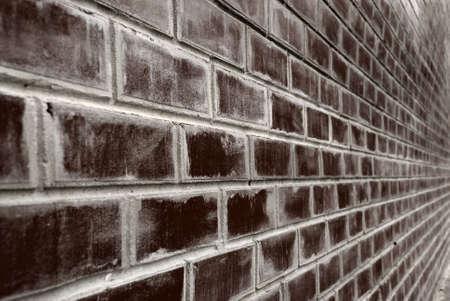 prospect: brique de base. Un mur de briques, une photo avec perspective  Banque d'images