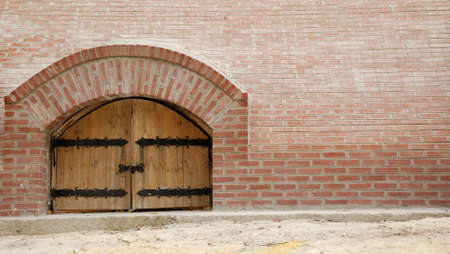 Wooden doors. An entry in a building of a man's monastery. East Ukraine Stock Photo - 3590157