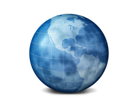 The planet the earth is isolated on a white background. Three-dimensional rendering photo