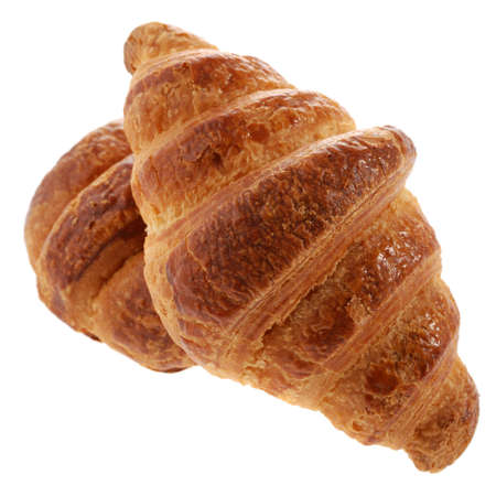 two croissant. A bakery product. A sweet roll it is isolated on a white background photo