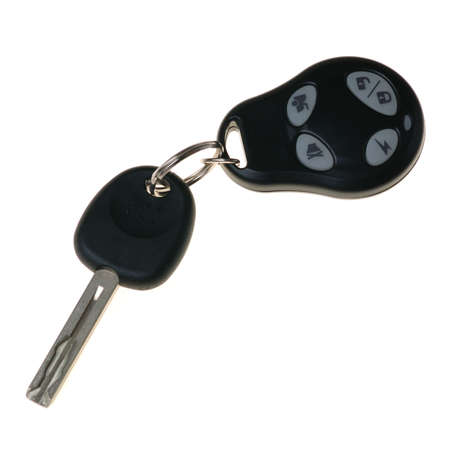 Keys from the car. Are isolated on a white background photo