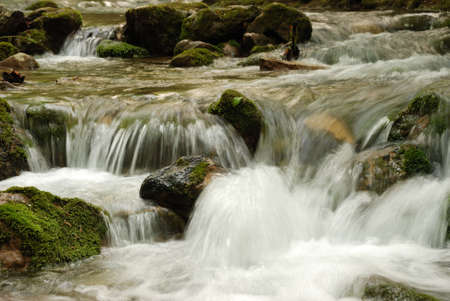 The mountain river. A rough stream of water in mountains of the Crimean peninsula Stock Photo - 3650742