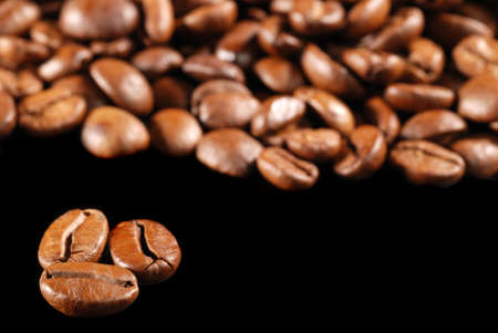 Coffee background. Perfect coffee grains. High detail photo