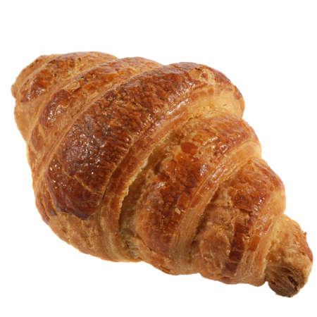 Croissant. A bakery product. A sweet roll it is isolated on a white background photo
