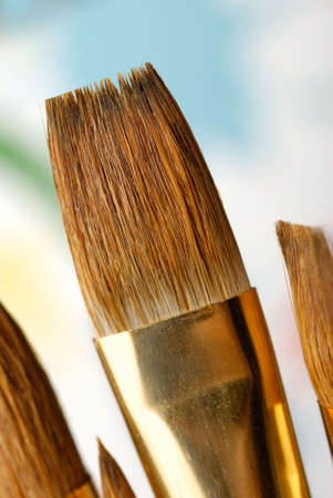 Paintbrush. Brushes for drawing. C blur a color background Stock Photo - 3708203