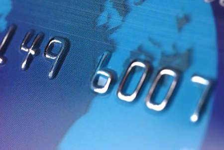selected: Credit card. A photo close up with the selected focus
