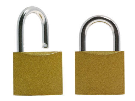penetration: Lock.The locking device interfering penetration into any space Stock Photo