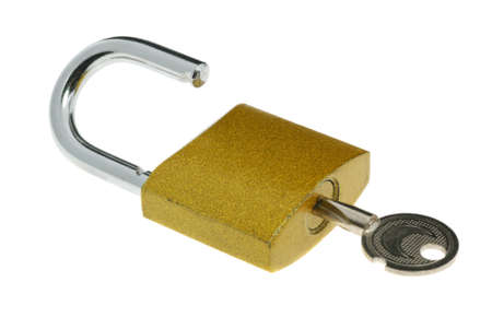 Lock.The locking device interfering penetration into any space Stock Photo - 3906960