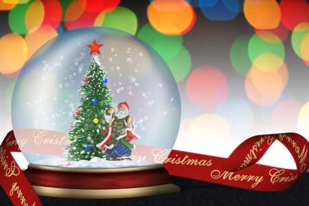 Glass sphere. Christmas scenery created by means of computer technology Stock Photo - 3906973