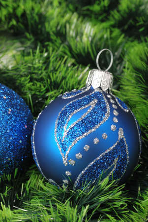 Christmas background. New Year's toys and ornaments bright and glow  Stock Photo - 3906998