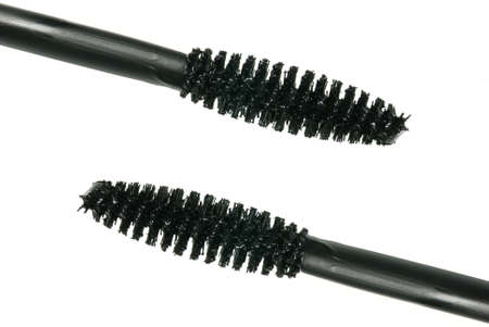 two brush mascara. A subject for leaving by eyelashes. A female toilet accessory Stock Photo - 3907060