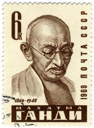 Mohandas Karamchand Gandhi. Major political and spiritual leader of India  photo