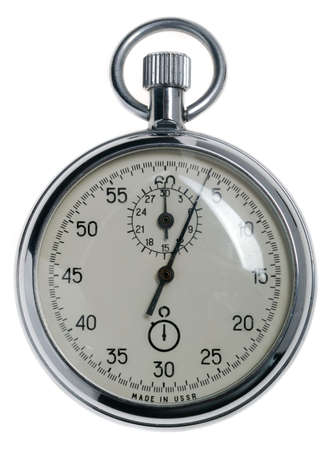 stopwatch. Analog watch that can be immediately stopped and started by pressing a button. Made in USSR Stock Photo