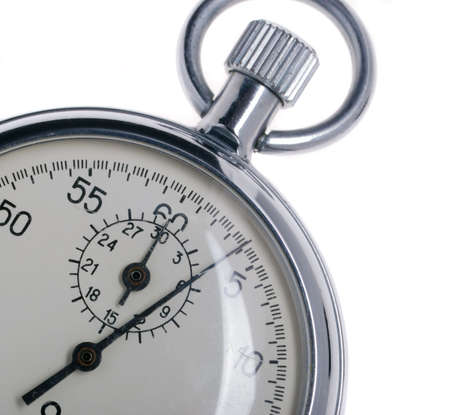 stopwatch. Analog watch that can be immediately stopped and started by pressing a button. Made in USSR Stock Photo - 3948983