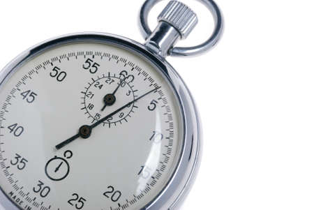 stopwatch. Analog watch that can be immediately stopped and started by pressing a button. Made in USSR Stock Photo - 4037187