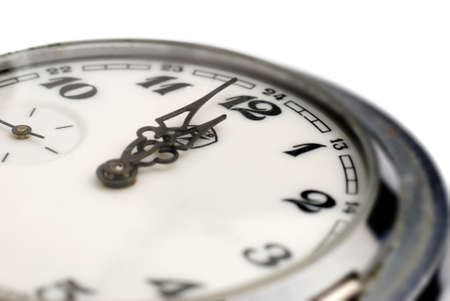 12 oclock: Analog hours, time it is established at 12 oclock. A photo close up