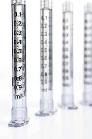 intended: syringe. The medical tool intended for injections   Stock Photo