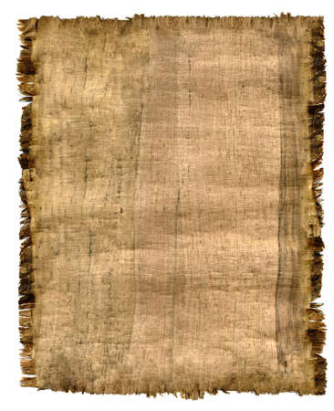 fragment: Parchment. A fragment of the Egyptian parchment made in 19 century Stock Photo