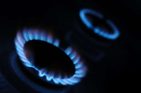 Gas. A household gas oven with the included gas photo
