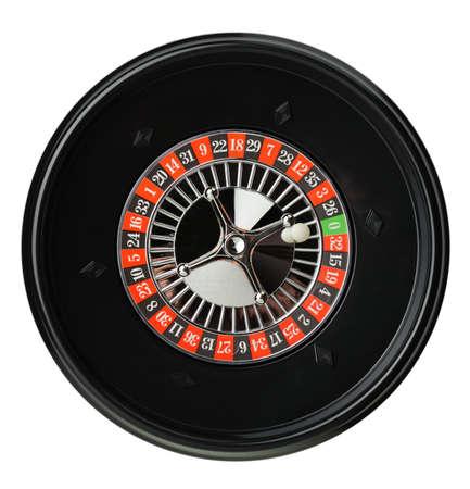 establishments: Isolated roulette. Gambling in game establishments of a casino  Stock Photo