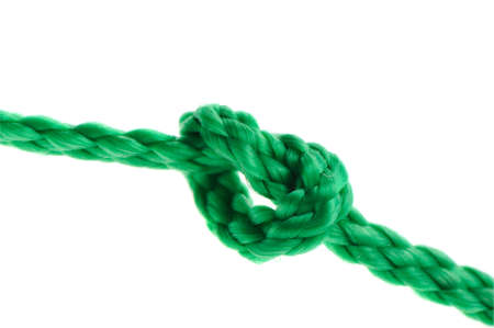 to incorporate: Knot on a cord. Isolated on a white background