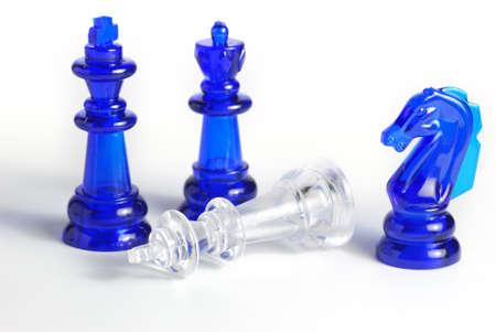 logic: Ajedrez. Un juego de mesa de la l�gica. Un material de vidrio --