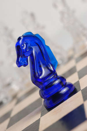 political system: Chess. A logic board game. A material - glass Stock Photo