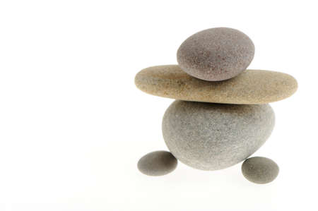 stone people. Sea stones isolated on a white background photo