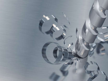 Drill in work. The adaptation intended for manufacturing apertures in a surface Stock Photo
