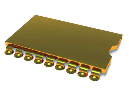 microcircuit: Computer microcircuit. It is isolated on a white background